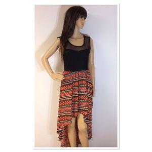 VIBE SPORTSWEAR HIGH/LOW COLOR BLOCK DRESS